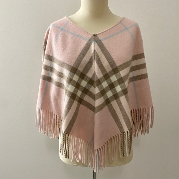Authentic Burberry pink Poncho